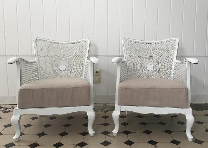 Shabby chic Chippendale Sessel