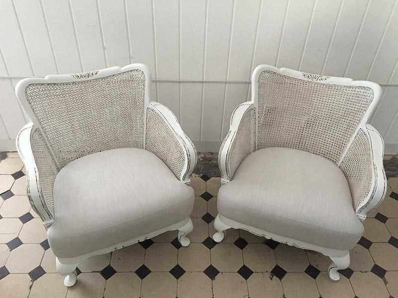 Shabby chic Chippendale-Sessel Fiona | Kleiddich