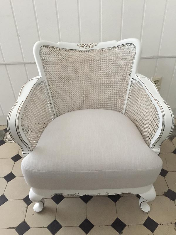 Shabby chic Chippendale Sessel Fiona