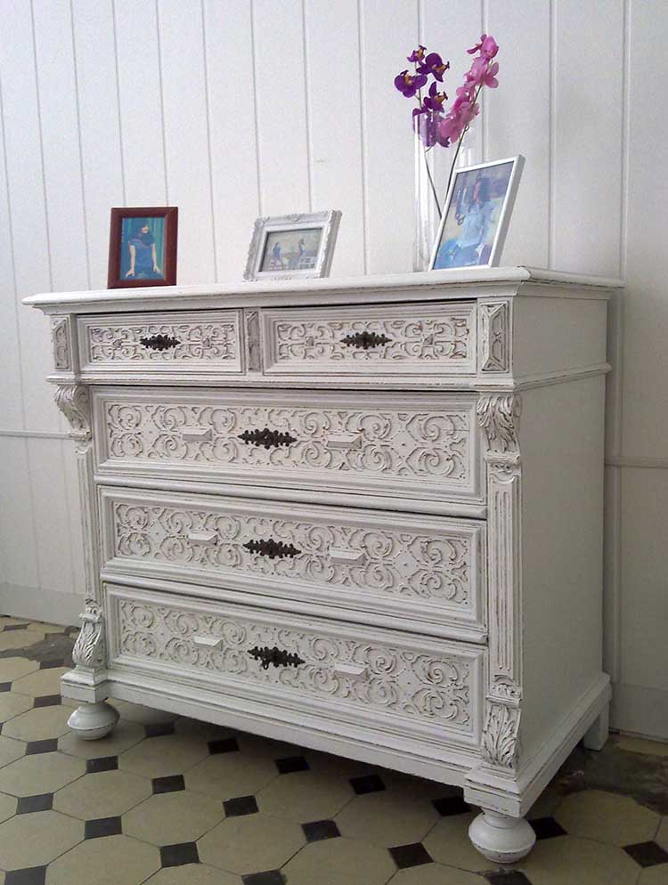 shabby chic kommode lenora kleiddich. Black Bedroom Furniture Sets. Home Design Ideas
