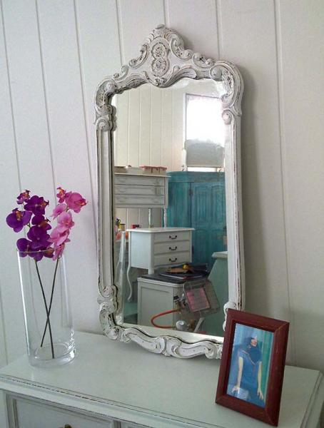shabby chic spiegel marie kleiddich. Black Bedroom Furniture Sets. Home Design Ideas